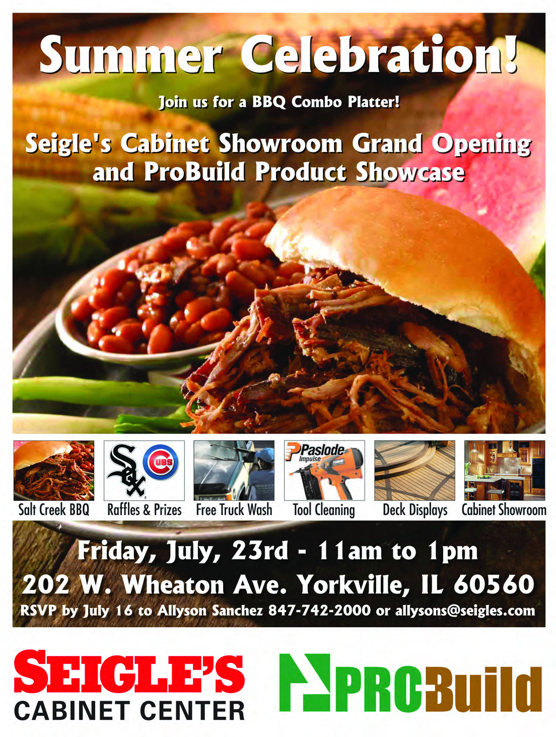 Seigle's Cabinet Showroom Grand Opening and ProBuild Product ...